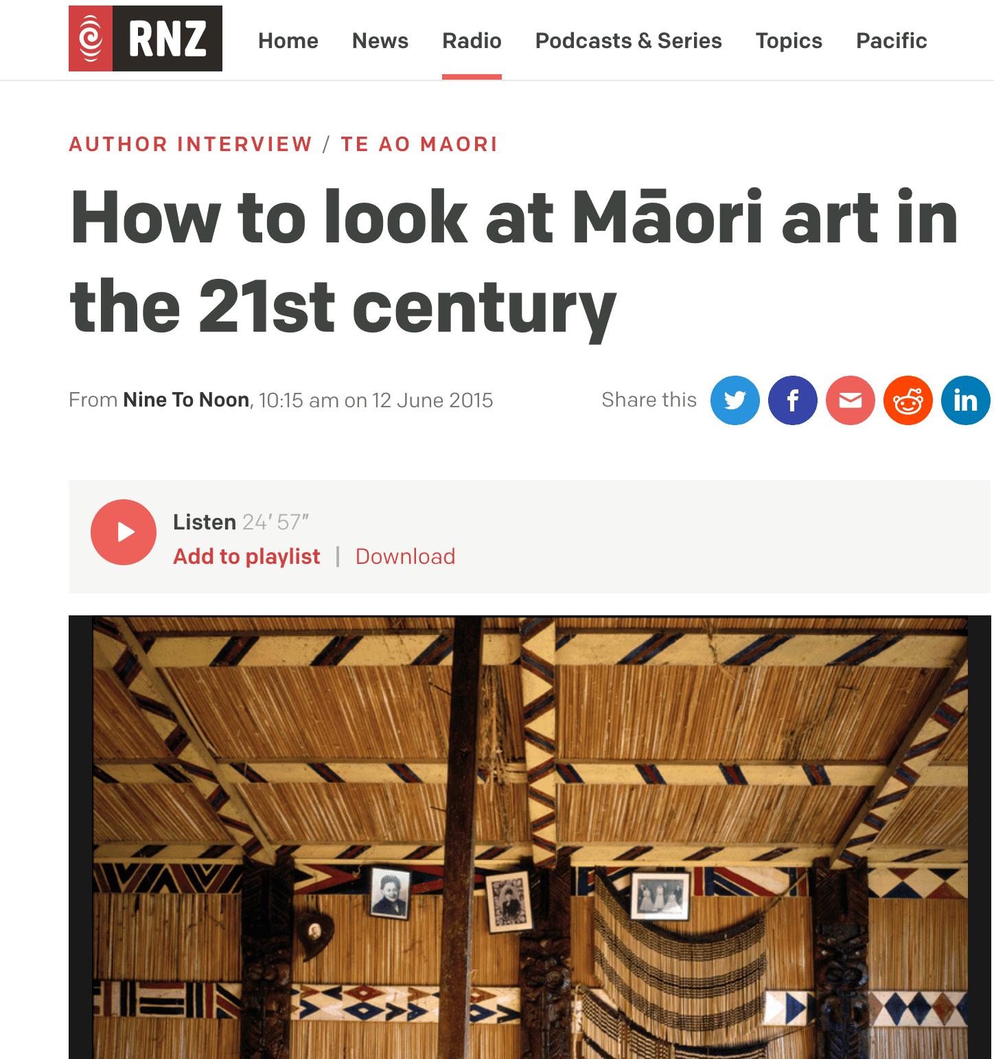publicity Maori Art book